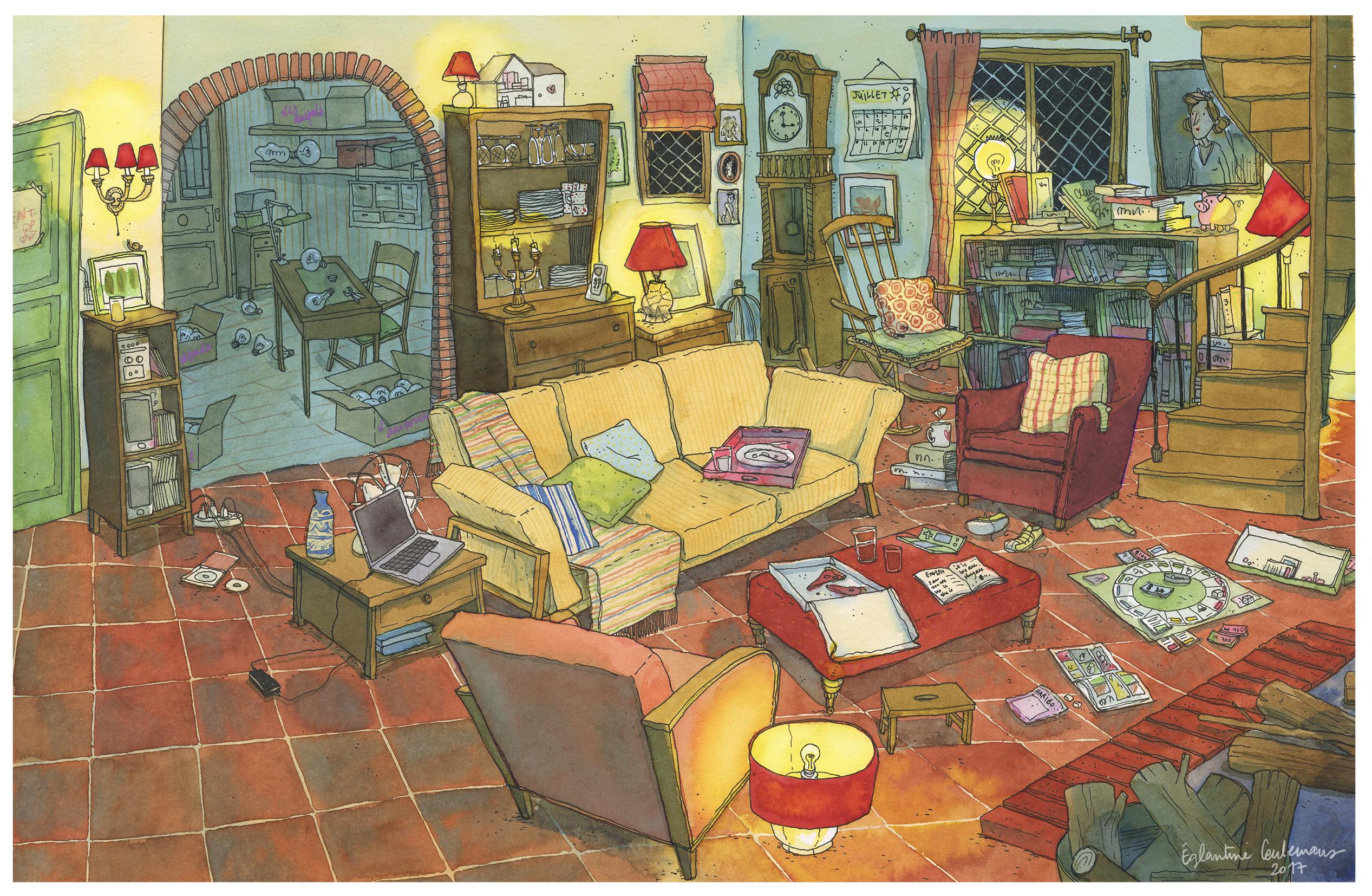 Le salon de tante Hilda